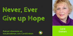 Never Ever Give Up Hope, Carol Graham