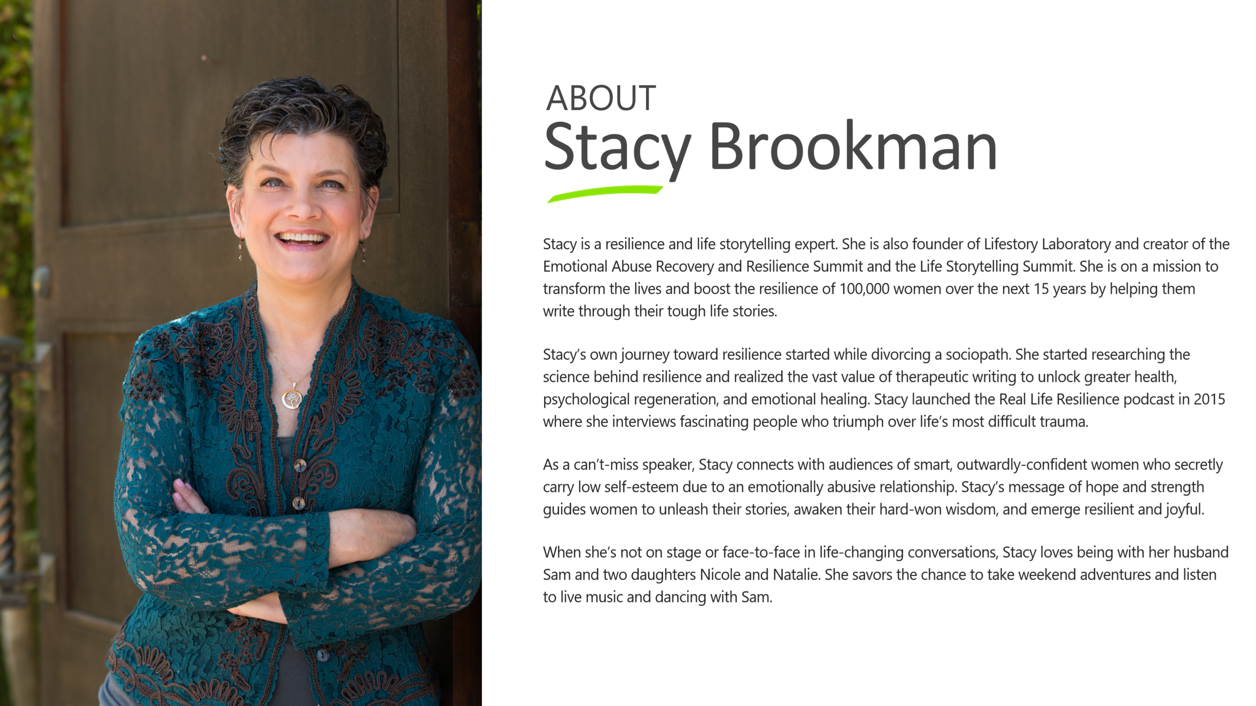Conference speaker stacy brookman