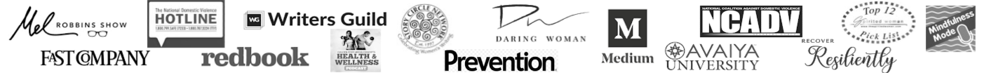 Prevention Magazine, Writers Guild, Mel Robbins Show, Daring Woman, Medium